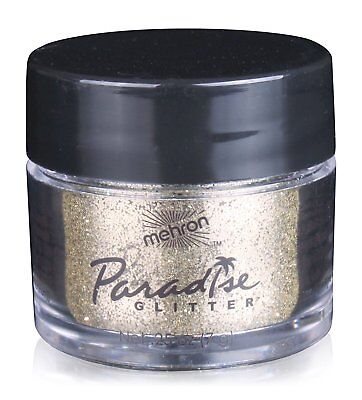 Glitter Body Paint (Mehron Makeup Paradise AQ Glitter Face and Body Paint, GOLD - 10gm )
