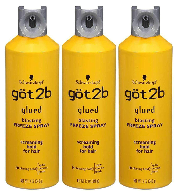 Got2b Glued Blasting Freeze Hairspray Aero 12 Ounce Pack of 3 Hair Care & Styling