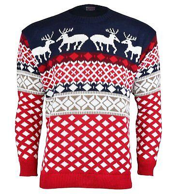 Christmas Xmas Unisex Jumper Sweater Retro Novelty Vinatage Ladies Mens Size New ()