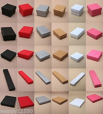 JEWELLERY/GIFT BOXES: CHOOSE COLOUR, SIZE & QUANTITY  WHOLESALE CHEAPEST ON EBAY