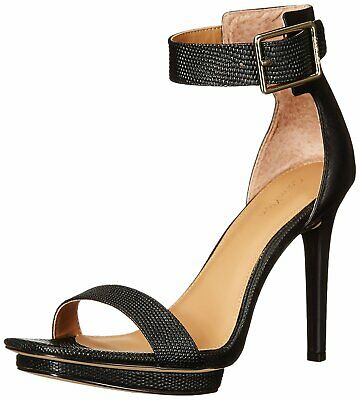 Calvin Klein Womens Vable Open Toe Ankle Strap Classic Pumps, Black, Size 8.5 1o