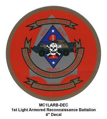 1st Light Armored Recon Bn, insignia decal/sticker (USMC Marine Corps Marines)