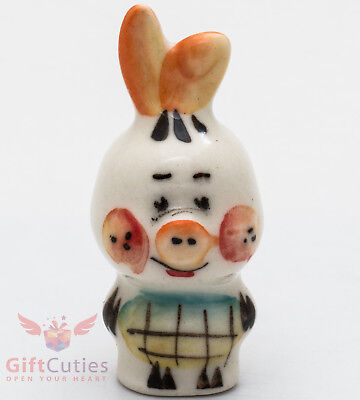 Winnie The Pooh Pig (Pig Piglet from Winnie the Pooh Gzhel porcelain figurine souvenir)