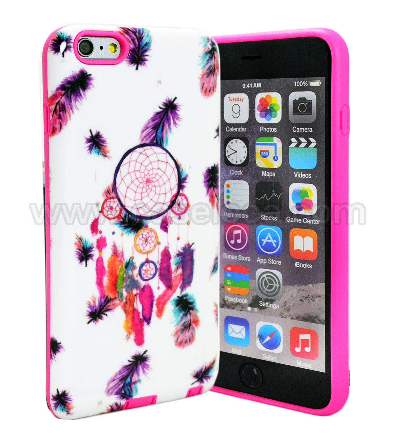 For iPhone 7 6 6S Plus Hybrid Armor Case Rubber Hard Gummy Gel TPU Cover Case