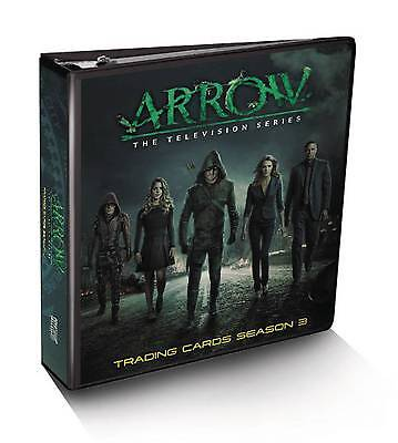 ARROW SEASON 3 CRYPTOZOIC TRADING CARD BINDER SEALED w/ JOHN BARROWMAN M24 RELIC