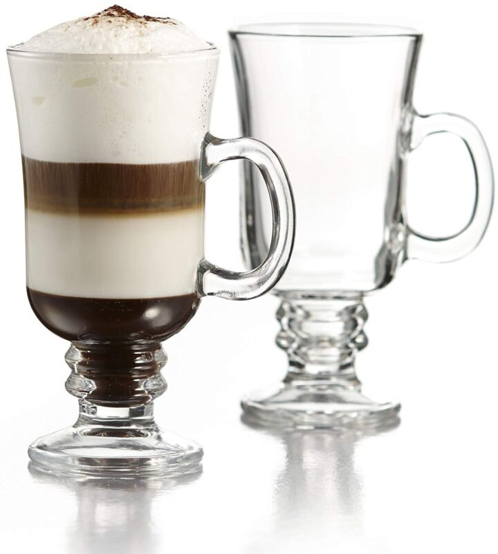 Circle Glass Torino 8 Oz Irish Coffee Mugs - Set of 4