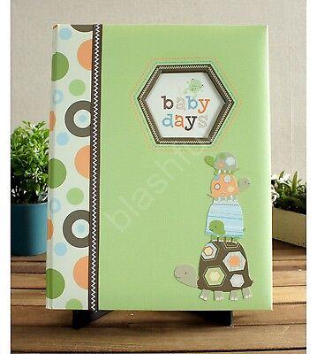 Carters LAGUNA Green Turtles Baby Boy Girl Gender Neutral Memory Keepsake Book