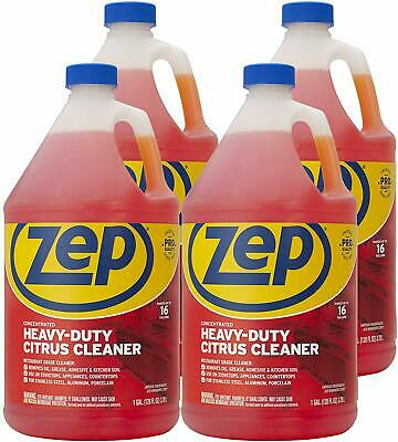 Zep Heavy-duty Citrus Cleaner And Degreaser 128 Ounce Zucit128ca Case Of 4