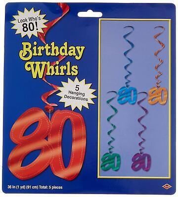 80 Wirbel Party Dekor 80th Geburtstag Hängende Dekoration Ausgewählte Farben X 5