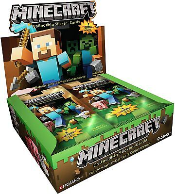 Minecraft Collectible Trading Cards Stickers Pack Box of 24 Packs BRAND NEW