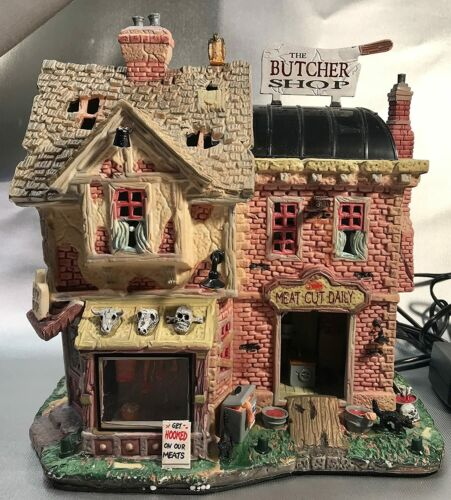 LEMAX  THE BUTCHER SHOP  SPOOKY TOWN Halloween Village  Sights & Sounds NEW
