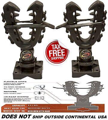 Gun Rack Accessories - Rhino Grip XL Rack Mount Rifle Gun Tool Bows Pole Shovels Holder UTV ATV Hunting