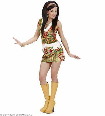 Kostüm  Fasching Damen 60er Jahre Hippie Flower Power  Gr. M