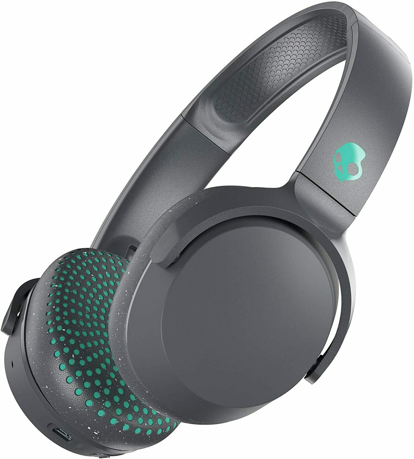 Skullcandy RIFF Cuffie Wireless Ricarica Rapida Bluetooth Grigio / Miami