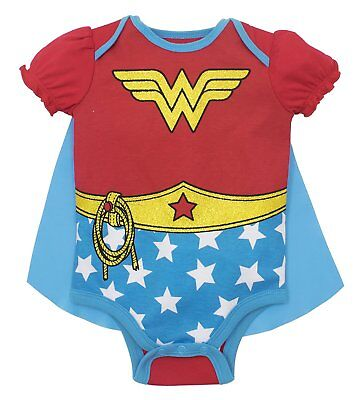 Wonder Woman Baby Girls' Costume Bodysuit with Cape, - Costumes With Red Capes