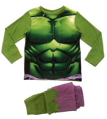Boys Marvel Avengers Long Pyjamas Incredible Hulk Pjs - Pyjama Boy Kostüm