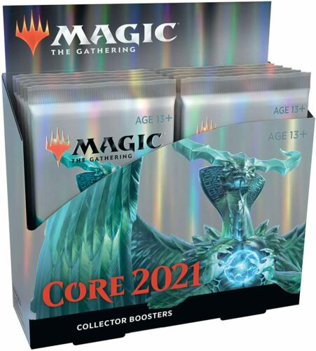 Magic: The Gathering Core Set 2021 (M21) Collector Booster Box | 12 Packs | Min.