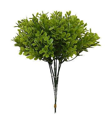"6 Boxwood Picks 9"" High  Filler Greenery Silk Wedding Flowers Centerpieces Decor"