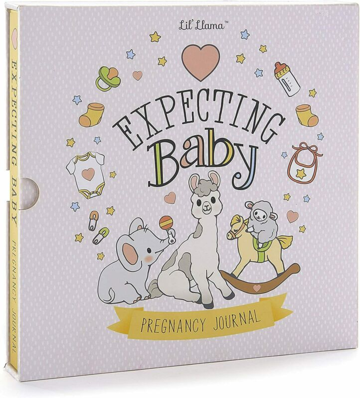 Lil' Llama My Pregnancy Journal Book Spiral-bound Hardcover with Illustrations