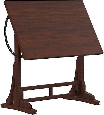 Computer Desk Home Office Desk Coffee Table, Farmhouse Style Design Adjustable Furniture