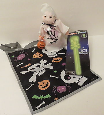 Halloween Ty Beanie Kid in Ghost Costume Handpainted Jack Skellington +GlowStick](Jack Skellington Halloween Costume Child)