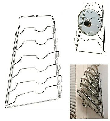 Kitchen Cabinet Door Pot Lid Rack Cover Holder Storage Organizer Pantry Cupboard