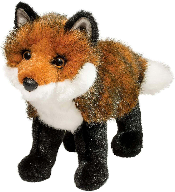 "Douglas Plush Plush Scarlett 12"" long red Fox stuffed animal"
