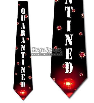Quarantined Ties Mens Funny Virus Doctor Necktie Funny Necktie Tie
