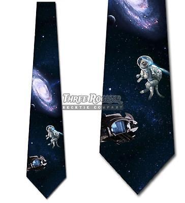 Space Cat Tie Men's Galaxy Funny Neck Ties Necktie Brand New Funny Necktie Tie