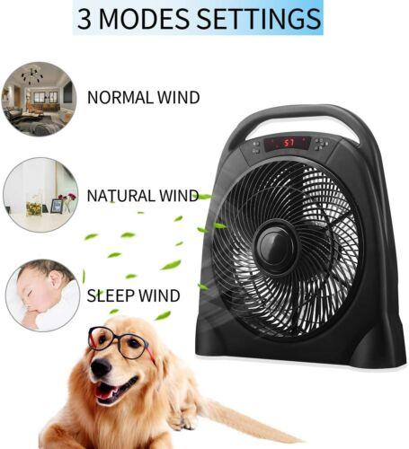 "18"" Quiet Portable Box Fan Air Circulator with Remote Control"