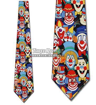 Clown Ties Circus Necktie Funny Mens Clowns Neck Tie Brand New Funny Necktie Tie