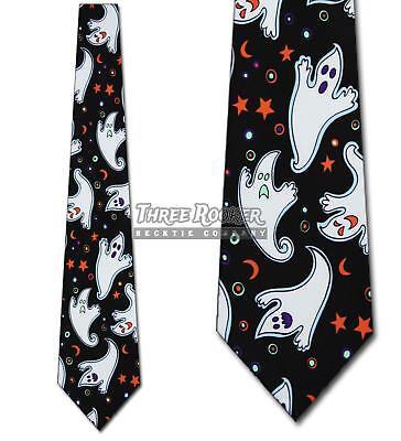 Ghost Ties Halloween Necktie Flying Ghouls Mens Holiday Neck Tie Brand New