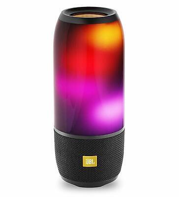 JBL Pulse 3 Wireless Bluetooth Waterproof Speaker (Black) Lights up
