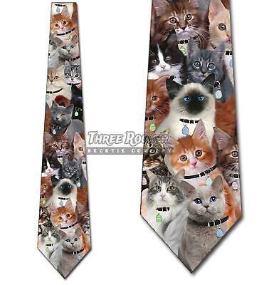 Easter Cat Collage Neckties Mens Holiday Tie Funny NWT Funny Necktie Tie