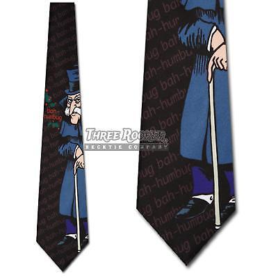 Scrooge Ties Christmas Necktie Bah Humbug Mens Neck Tie NWT