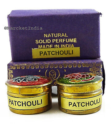 Patchouli Solid Perfume (Natural Patchouli Solid Perfume in Mini Brass Jar Made in India-4gm)