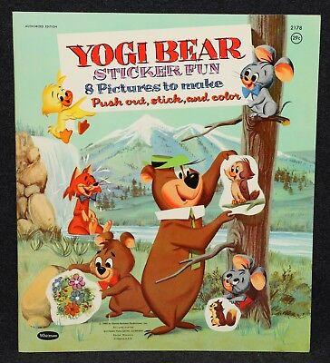 Hanna-Barbera 1960 Yogi Bear Sticker Book Whitman #2178 Unused