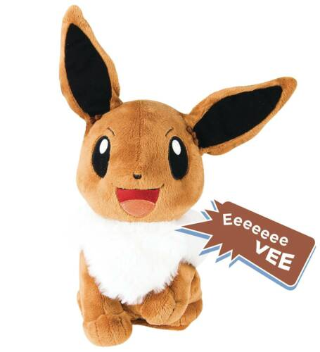 POKEMON MY FRIED EEVEE TALKING PLUSH 10 SOUNDS AND PHRASES NEW