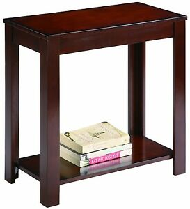 Small Side Wood Accent Crown Mark Pierce End Chair Espresso Night Stand Table