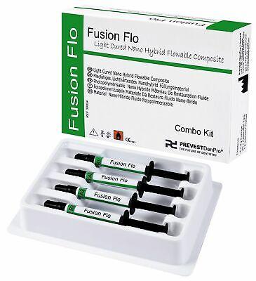 Light Cured Universal Nano Flow Able Dental Composite Fusion Kit Prevest .