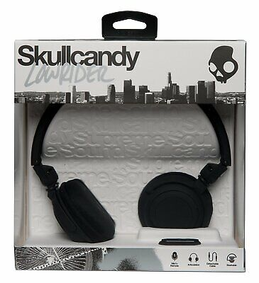 Skullcandy Lowrider Supreme Sound Headphones with Mic in Black - New