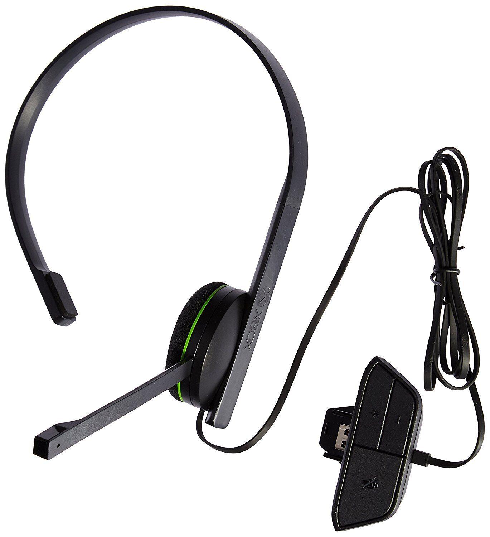 Microsoft Xbox One Chat Schwarz Kopfbügel Headset / gut / Fachhandel