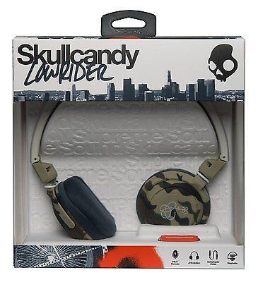 Skullcandy Lowrider DJ Stile sovrauricolari Cuffie+microfono+VOLUME CONTROLLO -