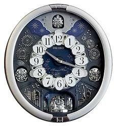 *BRAND NEW* Seiko Melodies in Motion Silver Tone Metallic Case Clock QXM379SRH