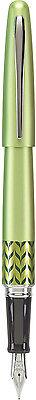 Pilot Metropolitan MR Retro Pop Fountain Pen – GREEN w/ Accents – Fine Nib – New Collectibles