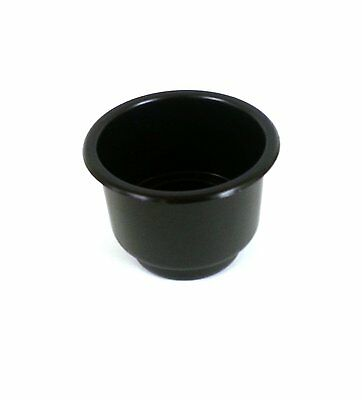 Black Single Plastic Cup Holder Boat RV Car Truck Inserts Large Size (Large Cup Holder)