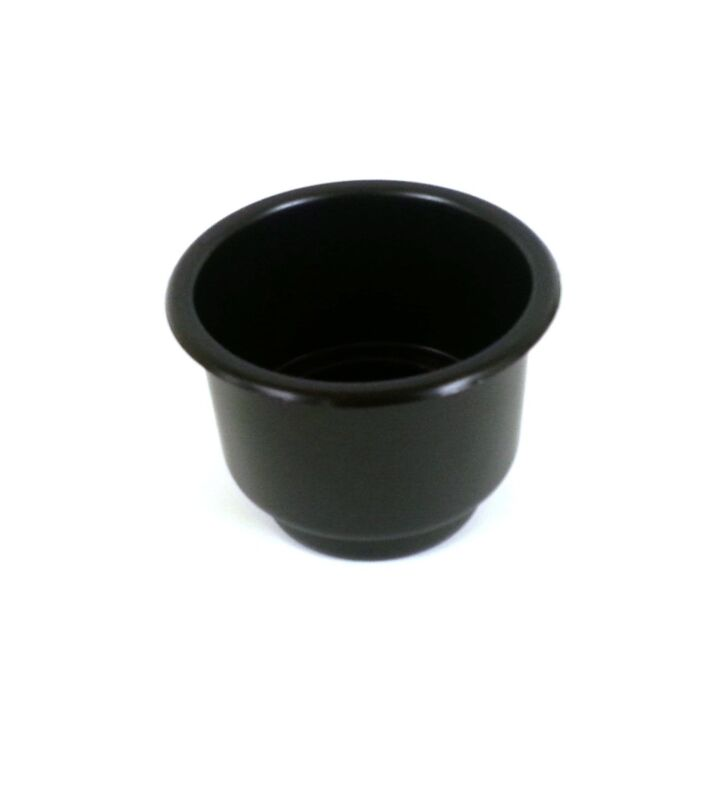 Black Single Plastic Cup Holder Boat Rv Car Truck Inserts Large Size Jumbo