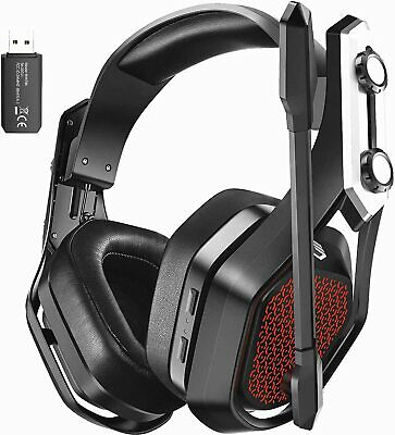 Wireless Gaming Headset With Mic Headphones Surround For PC Laptop PS4 Xbox One