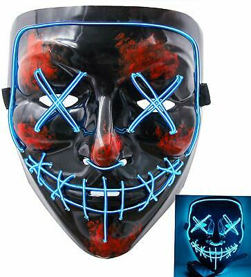The Purge Masks Halloween (Halloween Mask LED Light Up Funny Masks The Purge Movie Scary Festival)