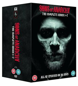 Sons Of Anarchy TV Series Complete Seasons 1-7 1 2 3 4 5 6 & 7 DVD Boxset